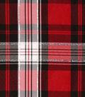 Holiday Decor Fabric-Metallic Tafetta Plaid