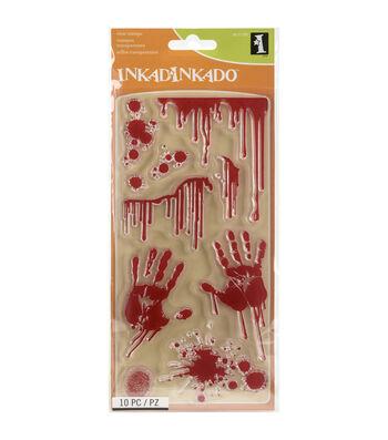 Inkadinkado Halloween Clear Stamps-Bloody Scene