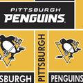 Pittsburgh Penguins Fleece Fabric -Block