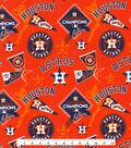 Houston Astros Cotton Fabric -World Series on Orange