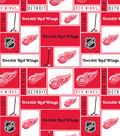 Detroit Red Wings Fleece Fabric -Block