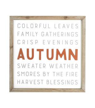 Simply Autumn Wood Wall Decor-Orange Autumn & Gray Words
