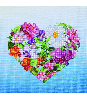 Diamond Dotz Diamond Facet Art Kit-Flower Heart