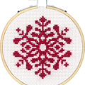Dimensions Counted Cross Stitch Kit-Snowflake Small