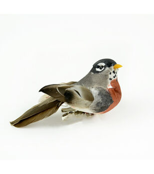 "American Robin with Clip 4"" Bird-1 pc"