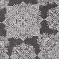 Luxe Fleece Fabric-White Medallion Heathered
