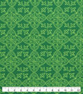 St. Patrick\u0027s Day Lucky Irish Print Fabric -Celtic Medallions
