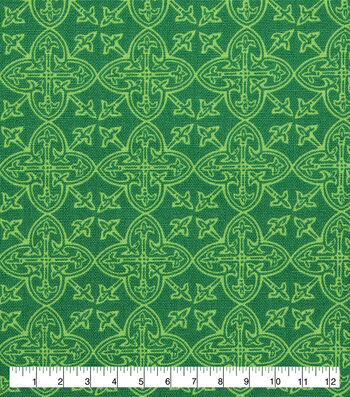 St. Patrick's Day Lucky Irish Print Fabric -Celtic Medallions