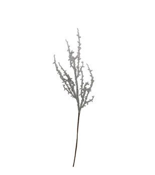 Handmade Holiday Christmas Ice Branch Spray-White