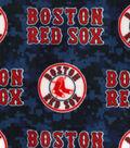 Boston Red Sox Fleece Fabric -Digital