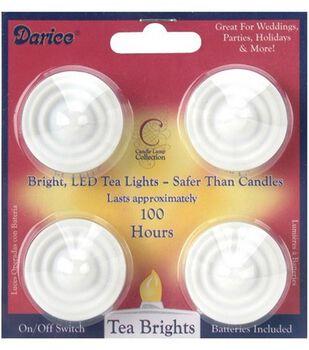 Darice 4pk Battery Operated LED Tea Lights