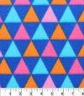 Blizzard Fleece Fabric 59\u0022-Boho Broken Chevron Triangles