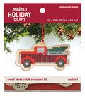 Wood Cross Stitch Ornament Kit-Truck
