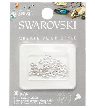 Swarovski Create Your Style 38 pk Xirius Flat Back Rhinestones-Crystal