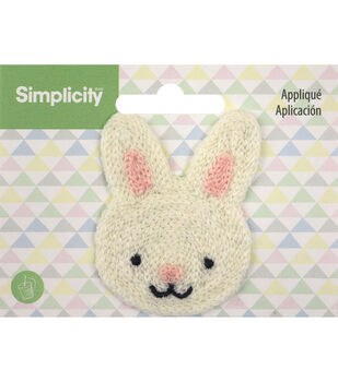 Simplicity Bunny Baby Sew-on Applique-White