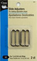 Slide Adjusters 1\u0022-Silver 2/Pkg