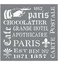 DecoArt Andy Skinner Mixed Media 8\u0027\u0027x8\u0027\u0027 Stencil-French Elements