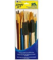 Loew Cornell Simply Art Brush Value Pack 25pc, , hi-res