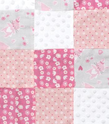 Nursery 3D Patchwork Fabric 44''-Cute As A Bunny