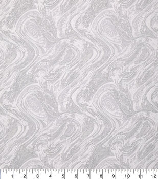 Keepsake Calico Cotton Fabric-Oil Slick Metallic White