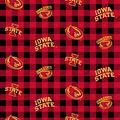 Iowa State University Cyclones Cotton Fabric-Buffalo Plaid