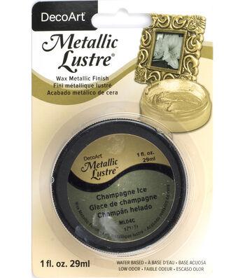 DecoArt Metallic Lustre 1 fl. oz. Wax-Champagne Ice