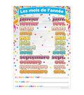 Smart Poly French Immersion Classroom Charts 13\u0022x19\u0022 Set of 8