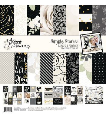 Simple Stories Always & Forever 12''x12'' Collection Kit
