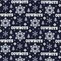 Dallas Cowboys Christmas Flannel Fabric-Holiday
