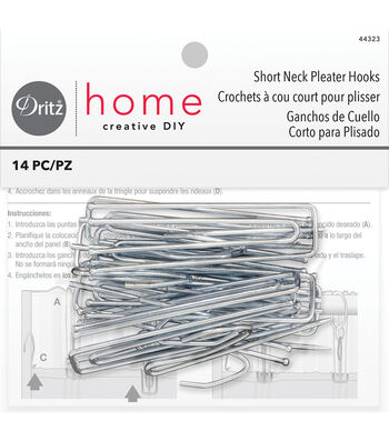 "Dritz Home 3"" 4-End Pleater Hooks Traverse Rods"