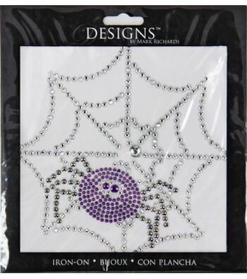 Designs Iron-On-Spider Web And Spider