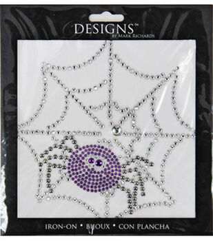 Appliques iron on patches applique designs joann designs iron on spider web and spider urtaz Gallery