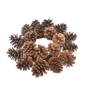 Blooming Autumn Pinecone Mini Wreath