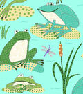 Snuggle Flannel Fabric -Dotted Froggies