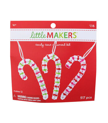 Little Makers Christmas Candy Cane Ornament Kit