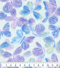 Anti-Pill Plush Fleece Fabric-Watercolor Butterfly Blue Sketched