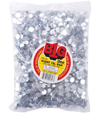 Rhinestone Shapes 1lb-Round Crystal