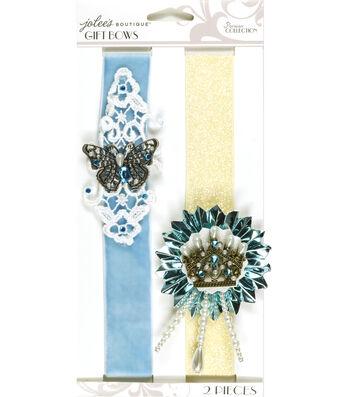 Jolee's Boutique Parisian Soft Blue Embellished Gift Bows