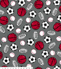 No Sew Fleece Throw 48\u0022-Red Gray Sports