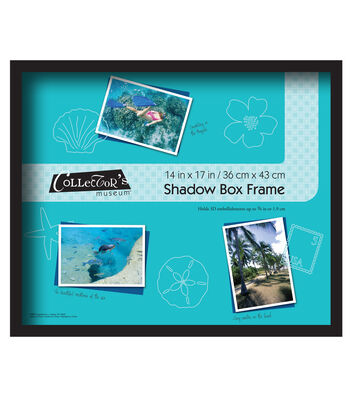 MCS Industries Collector's Museum Shadow Box Frame 14''x17''-Black