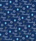 Keepsake Calico Holiday Cotton Fabric 43\u0022-Happy Hanukkah Script