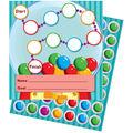 Gum Ball Machine Mini Incentive Charts, 30 Per Pack, 6 Packs