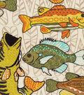 Novelty Cotton Fabric -Funky Fish
