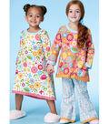 McCall\u0027s Pattern M7496 Girls\u0027 Banded Top, Dress & Pants-Size 2-5