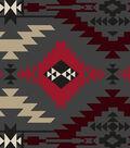 Anti-Pill Fleece Fabric 59\u0022-Heathered Red & Gray