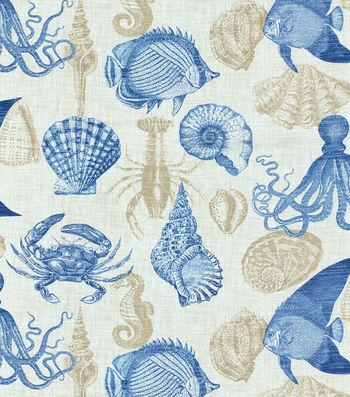 """Solarium Outdoor Fabric 54""""-Sealife Marine"""