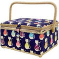 Singer Large Sewing Basket-Cats Be Chillin Print