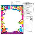 Welcome Owl-Stars! Learning Chart 17\u0022x22\u0022 6pk