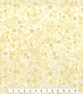 Kathy Davis Cotton Fabric 44\u0027\u0027-Tonal Vine on Cream