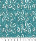 Keepsake Calico Cotton Fabric 44\u0022-Brasher Aqua